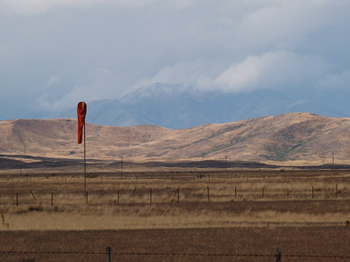 Image of a windsock, Twizel, South Island, New Zealand