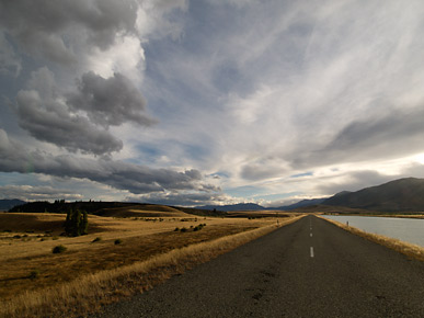 Image of the canal road, Twizel, South Island, New Zealand