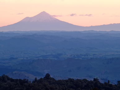 Image of Mount Taranaki, Waituhi Saddle, North Island, New Zealand