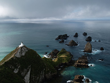 Image of a lighthouse, Nugget Point, South Island, New Zealand